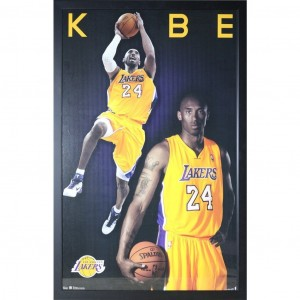 KOBE BRYANT - LA LAKERS POSTER FRAMED