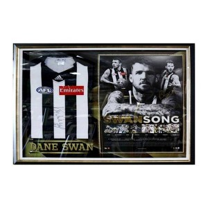 SWANSONG - DANE SWAN- CAREER LITHGRAPH WITH SIGNED JERSEY FRAMED