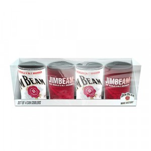 JIM BEAM SET OF 4 STUBBY HOLDERS