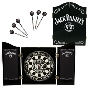 JACK DANIEL'S DARTBOARD WITH CABINET