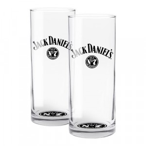 JACK DANIEL'S HIGHBALL GLASSES - SET OF 2