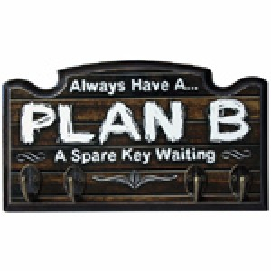 ALWAYS HAVE A PLAN B KEY HOLDER