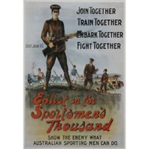 THE AUSTRALIAN ENLISTMENT FRAMED POSTER