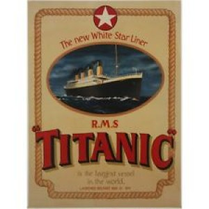 THE TITANIC WHITE STAR LINER FRAMED POSTER