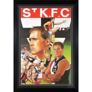 TONY LOCKETT  TRIBUTE FRAMED PRINT