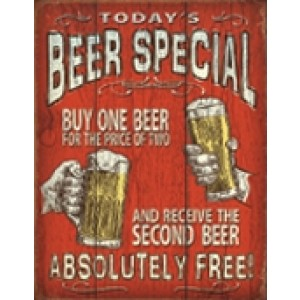 BEER SPECIAL TIN SIGN