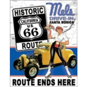 MEL'S DINER ROUTE 66 TIN SIGN