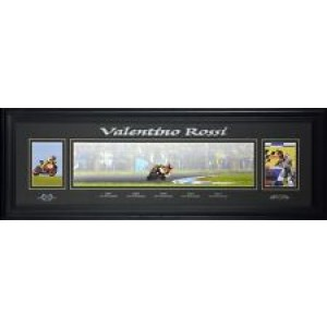 VALENTINO ROSSI PANORAMIC WORLD CHAMPION FRAMED PRINT