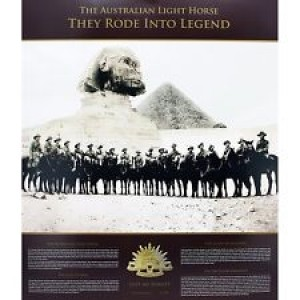 THE AUSTRALIAN LIGHT HORSE 'THEY RODE INTO LEGEND' FRAMED