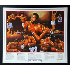 MUHAMMAD ALI THE GREATEST EVER FRAMED PRINT