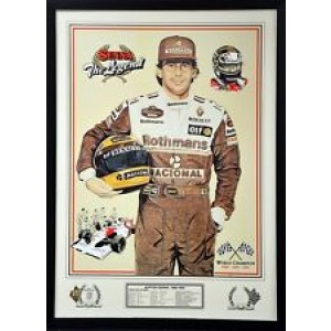 AYRTON SENNA F1 WORLD CHAMPION FRAMED PRINT