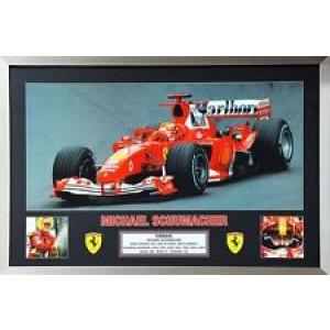 MICHAEL SCHUMACHER 7X WORLD CHAMPION FRAMED PRINT
