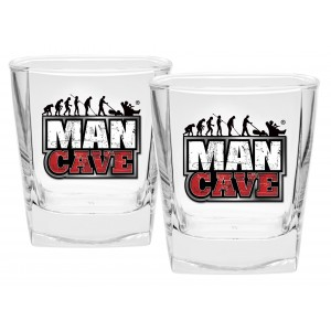 MAN CAVE SET OF 2 SPIRIT GLASSES