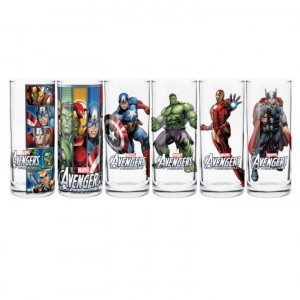 AVENGERS ASSEMBLE SET OF 6 COLLECTOR GLASSES