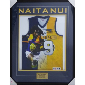 NIC NAITANUI SIGNED WEST COAST EAGLES JUMPER FRAMED