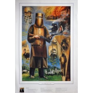NED KELLY FRAMED PAINTING PRINT