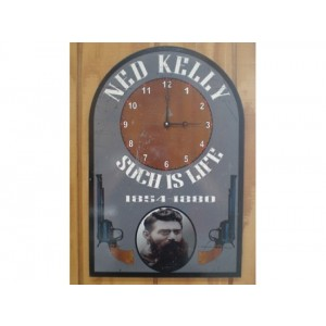 NED KELLY CLOCK TIN METAL SIGN