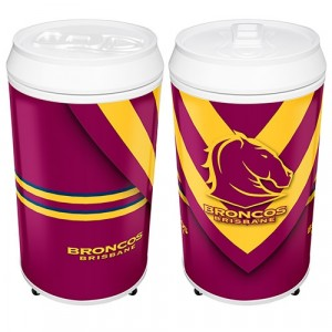 NRL BRONCOS COOLA CAN BAR FRIDGE