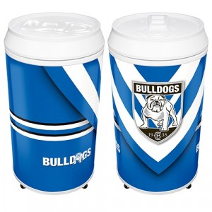 NRL BULLDOGS COOLA CAN BAR FRIDGE