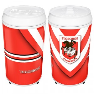 NRL DRAGONS COOLA CAN BAR FRIDGE