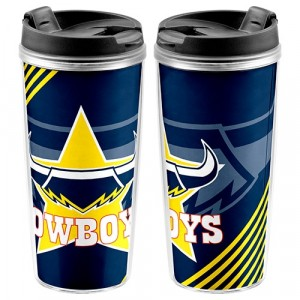 NRL COWBOYS TRAVEL MUG