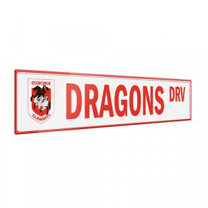 NRL DRAGONS STREET SIGN