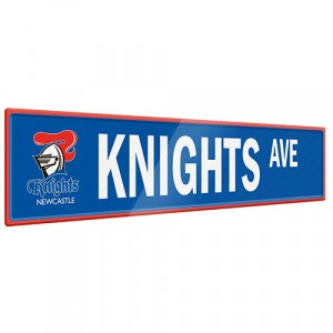 NRL KNIGHTS STREET SIGN