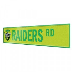 NRL RAIDERS STREET SIGN