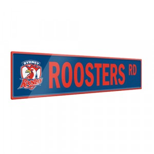 NRL ROOSTERS STREET SIGN
