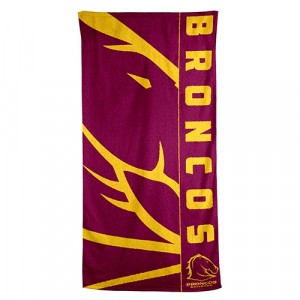 NRL BRONCOS BEACH TOWEL
