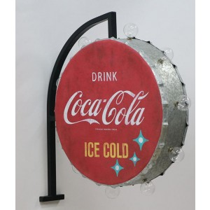 COCA-COLA ROUND OFF THE WALL SIGN