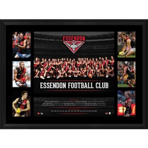 ESSENDON 2016 PREMIERGRAPH FRAMED