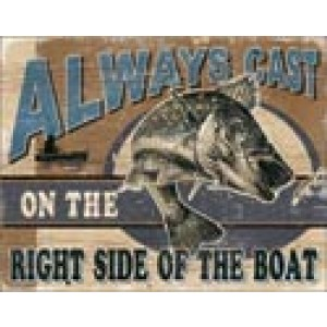 ALWAYS CAST TIN SIGN