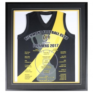 RICHMOND 2017 PREMIERS FRAMED JERSEY