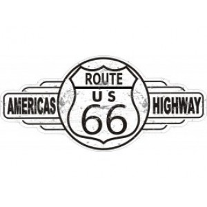 ROUTE 66 SERVICE STATION TIN METAL SIGN