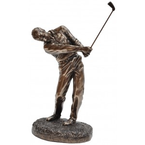 GOLF FOLLOW THROUGH STATUE