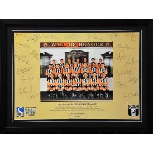 COLLINGWOOD 1990 PREMIERS TEAM POSTER FRAMED