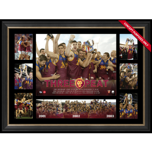 BRISBANE THREE-PEAT PREMIERS SUPER FRAME