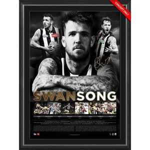 SWANSONG - DANE SWAN - CAREER LITHOGRAPH FRAMED