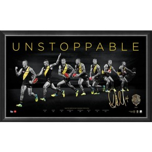 DUSTIN MARTIN UNSTOPPABLE BROWNLOW PRINT FRAMED