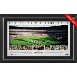 THE FINAL SIREN'S GONE PANORAMIC SIGNED BY TRENT COTCHIN