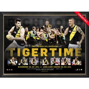 TIGER TIME PREMIERS SPORTS PRINT FRAMED