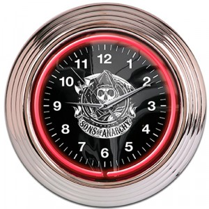 SONS OF ANARCHY REAPER NEON CLOCK