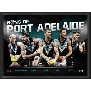 SONS OF PORT ADELAIDE - PLAYER POSTER FRAMED