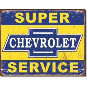 SUPER CHEVROLET TIN SIGN