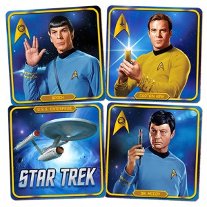 STAR TREK RETRO SET OF 4 COASTERS