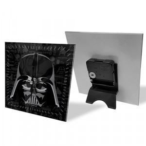 DARTH VADER GLASS DESK CLOCK