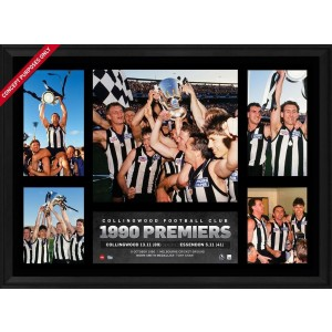COLLINGWOOD 1990 PREMIERS SUPER FRAME