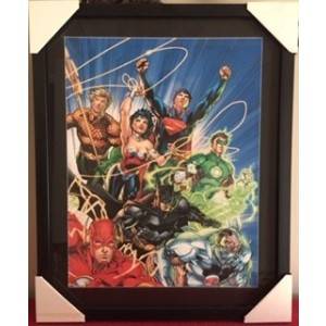 SUPER HEROES COMIC FRAMED PRINT