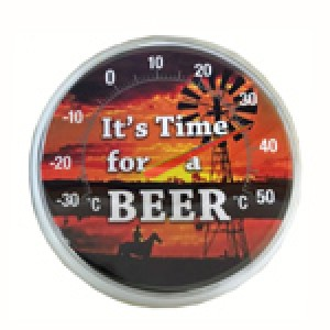 IT'S TIME FOR A BEER THERMOMETER